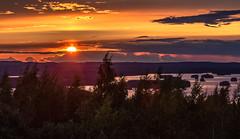 sunset in Neulämäki in Kuopio (VisitLakeland) Tags: finland kuopio lakeland summer auringonlasku evening järvi kesä lake luonto maisema metsäforest nature outdoor scene scenery sun sunset water