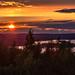sunset in Neulämäki in Kuopio