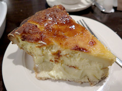 Coconut custard pie (Coyoty) Tags: townlinediner rockyhill connecticut ct diner restaurant food dessert coconut custard pie baked sweet brown crust white beige triangle wedge piece bokeh fork creamy