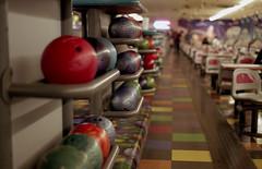 Waveland Bowl 5 (kumeck) Tags: 35mm film nikon n2000 agfa vista 200 bowling alley balls chicago