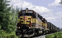 Hot Summertime WC Action (ac1756) Tags: wisconsincentral wcl wc emd sd45 6621 oacti mp445 troutlake michigan