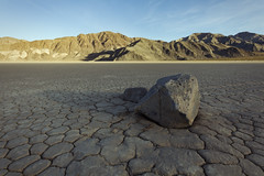 Dividing Light (matthewkaz) Tags: sailingstone sailingstones rock shadow theracetrack racetrack stone drylake racetrackplaya mountains inyormountains deathvalley desert inyocounty california 2014