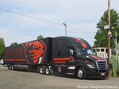May Trucking Co. Oregon State Beavers Football Freightliner Cascadia, Truck# 4675 (Michael Cereghino (Avsfan118)) Tags: 2018 brooks truck show convention may trucking company co freightliner cascadia oregon state beavers football osu transport transporter semi
