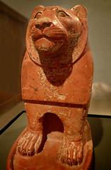 Pottery Guardian Lion from the temple enclosure at Hierakonpolis, Egypt Old Kingdom 6th Dynasty 2325-2175 BCE (mharrsch) Tags: lion pottery guardian egypt temple hierakonpolis sculpture statue ashmoleanmuseum oxford england mharrsch