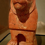 Pottery Guardian Lion from the temple enclosure at Hierakonpolis, Egypt Old Kingdom 6th Dynasty 2325-2175 BCE thumbnail