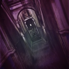 Just another Day at the Asylum... (Captain Creepy) Tags: brightonasylum hallway wheelchair patient inmate