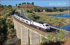 El 197... (JoseM354) Tags: talgo 6b17 río tajo embalse de alcántara renfe 334 ferrocarril viajeros viaducto arroyo arenero