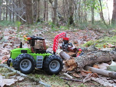 Removing Fallen Trees (Paranoid from suffolk) Tags: 2018 woods trees copse dorset stleonards holiday vacation lego foresttractor tractor minifig worker 60181