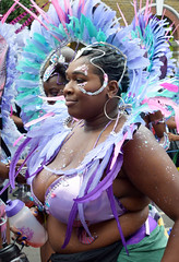 DSC_7112a Notting Hill Caribbean Carnival London Exotic Colourful Purple Costume with Feather Headdress Girls Dancing Showgirl Performers Aug 27 2018 Stunning Ladies (photographer695) Tags: notting hill caribbean carnival london exotic colourful costume girls dancing showgirl performers aug 27 2018 stunning ladies purple with feather headdress