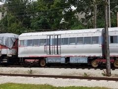 CTA #5001 at Fox River Trolley Museum (trainphotoz) Tags: crt chicagorapidtransit chicagorapidtransitcompany cta chicagotransitauthority pcc pccrapidtransit chicagol foxrivertrolleymuseum southelgin