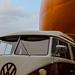 Orange and minibus