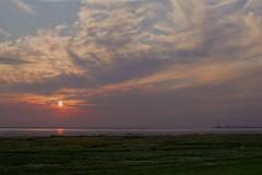 Sunset over Wadden Sea National Park (Svein K. Bertheussen) Tags: vadehavet waddensea unesco sea hav sky clouds himmel skyer sunset solnedgang jutland jylland denmark danmark