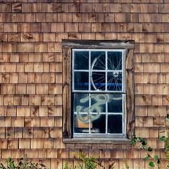 (jtr27) Tags: dscf1068xl jtr27 fuji fujfilm xe2s xtrans nikon seriese 50mm f18 manualfocus square building window weathered wood maine newengland