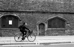 Bristol (richreiss) Tags: bristol bike bicycle riding street monochrome ilford fp4 pentax me super 50mm door architecture