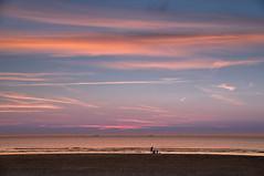 Evening at the sea (Julysha) Tags: sunset sea beach strand thenetherlands noordholland sky autumn september acr wijkaanzee nikon sigma241054art tiffenhtndgrad people 2018 northsea