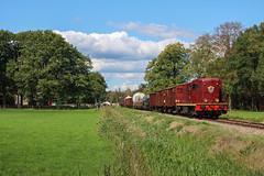 VSM 2459 | Loenen, 1-9-2018 (Arnoud - Fotografie) Tags: trein train zug spoorlijn diesel diesellok eerbeek loenen veluwe beekbergen apeldoorn rail railway railroad terug naar toen 2018 2459 ns 2400