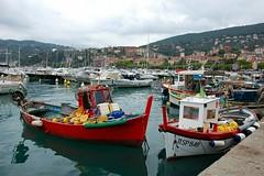 Pescherecci (marco.roncoroni.co) Tags: pescherecci fishingboat boat barca colori colors red rosso blue sea mare acqua water sky cielo