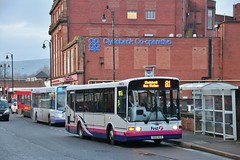 First Glasgow X512 HLR (41777) | Route 81 | Clydebank Bus Station, W. Dunbartonshire (Strathclyder) Tags: first glasgow firstglasgow dennis dart slf marshall capital x512 hlr x512hlr 41777 clydebank chalmers street west dunbartonshire scotland willowleaflivery scotstoun firstlondon firstcentrewest dm777 dm41777