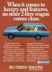 1984 Nissan Bluebird LX 2 Litre Wagon Aussie Original Magazine Advertisement (Darren Marlow) Tags: 1 4 2 8 9 19 84 1984 n nissan l x lx b bluebird w wagon c car cool collectible collectors classic a automobile v vehicle j jap japan japanese asian 80s