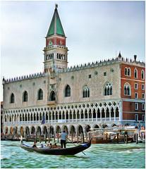 Gondola in Venice (kckelleher11) Tags: 2013 40150mm colour italy olympus venice building effect em5 gondola mzuiko omd painted water