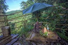 happy camper (kuuan) Tags: voigtländerheliarf4515mm manualfocus mf voigtländer15mm aspherical f4515mm superwideheliar apsc sonynex5n vietnam buddha happybuddha nature statue umbrella elephantfalls nambinh dalat