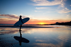 East Wittering sunset and surfer (pixeljunkie71) Tags: surfer sunset wittering