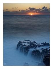 Sunrise - La Cayenne - Ste-Rose - Reunion Island (Vince-PhotoGraphy) Tags: îledelaréunion reunionisland océanindien indianocean sterose lacayenne leverdesoleil sunset water eau bleu soleil rocher filé pause longue