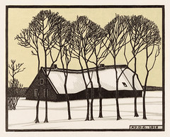 Farm in the snow (1918) by Julie de Graag (1877-1924). Original from the Rijks Museum. Digitally enhanced by rawpixel. (Free Public Domain Illustrations by rawpixel) Tags: antique art artwork drawing farm handdrawn house illustrated illustration illustrator juliedegraag name old sketch snow tree vintage winter woodcut