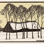Farm in the snow (1918) by Julie de Graag (1877-1924). Original from the Rijks Museum. Digitally enhanced by rawpixel. thumbnail