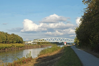 Pedestrian and Bicycle Bridge crossing the Datteln-Hamm Canal