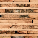 Close Up on a Stacked Lumber at a Sawmill thumbnail