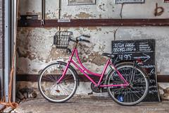 Pink Bicycle (Pieter Musterd) Tags: fiets bicycle pink rose mauritskade damesfiets fietsmandje pietermusterd musterd canon pmusterdziggonl nederland holland nl canon5dmarkii canon5d denhaag 'sgravenhage thehague lahaye