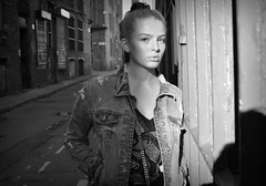 'Bright Lights Bigger City (plot19) Tags: britain british blackwhite black blackandwhite plot19 photography portrait pose people nikon north northwest northern now daughter family fashion fasion love light sun olivia liv street shot manchester england english