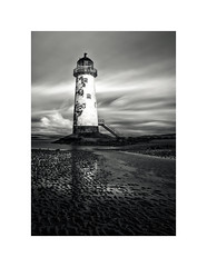 Talacre Lighthouse (Dave Slinn) Tags: lighthouse talacre pointofayr wales northwales welshcoast beach clouds longexposure ndfilter blackandwhite mono