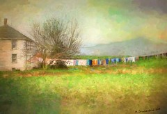 Wash Day, a digital painting (PhotosToArtByMike) Tags: washday digitalpainting digitalart painting photopainting pennsylvania pa franklincounty farm farmhouse