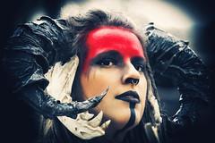 [horns] ([sczepurek_photography]) Tags: cosplay cosplayer horns devil teufel girl model alternativemodel shooting portrait people outdoor makeup septum fantasy elffantasyfair elfia niederlande