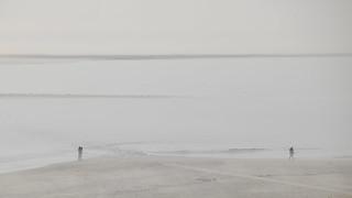 Misty impressions at Borkum beach