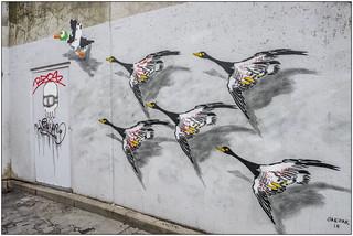 Graffiti in Brussel, België, 2018