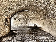 Der Gewölbegang (VenusTraum) Tags: steine gewölbe gang mauer stone mystic texture