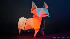 Selhurst Dog (Airborne Mark) Tags: origami origamidog origamiart