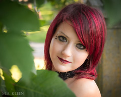 Chanda Appears (makleen) Tags: model modeling femalemodel illinois decatur greenwoodcemetery redhair redhead red alternative alternativemodel leaves collar freckles