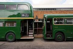 RF 673 and RML 2456 in repose (gooey_lewy) Tags: london country green line bus buses ariva amersham district motorbus society running day farewell garston gr garage anniversary transport summer bright lineregistration rf 673 rml 2456 aec repose