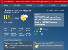 Heat Warning - Humidity Taking It's Toll (Daryll90ca) Tags: weather weatherforecast heatwarning temperature heat forecast