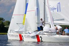 KRYC CUP 2014-4353 (amprophoto) Tags: sail sailing sailingyacht sailboat yachtrace regatta water wind white blue beneteau platu25 peoples sky sport spinnaker fun smile