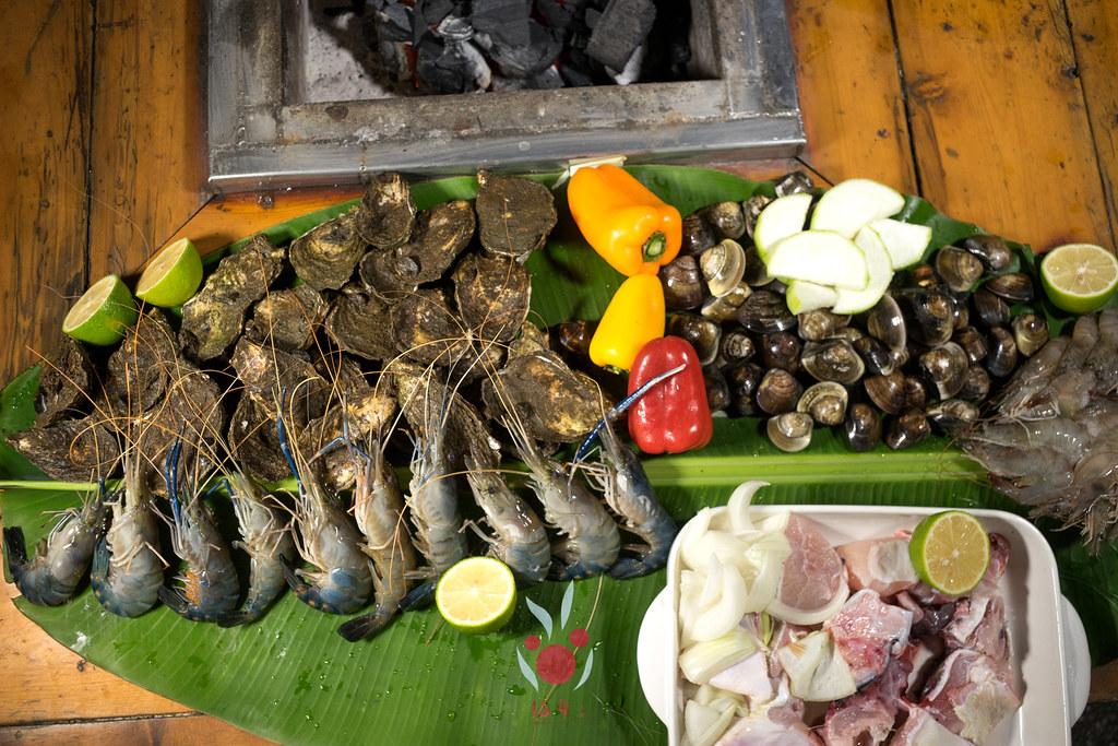 最奢華的中秋烤肉組 海鮮大集合之 龍膽石斑、泰國蝦、蚵、大卷 |小農聯盟3