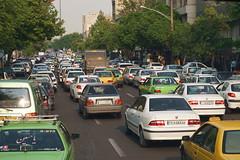 traffic (peter.velthoen) Tags: jammedroads cars tehran iran تهران car auto road weg straat street smog bomen trees stad city metropool verkehrsmarmelade trafficjam