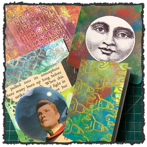 Having a blast with my Gelli-Plate. I think everyone should give it a try. #gelliart #gelliplate #craft #makeart #brianlapsley #journal #mixedmedia