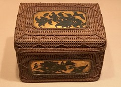 Basketwork Box with Peonies on Inset_Period-Meiji period (1868–1912)_Date-second half of the 19th century_Bamboo, rattan, lacquer, and gold (Hiero_C) Tags: metropolitanmuseum japaneseart japan bamboo basket box metropolitanmuseumofart