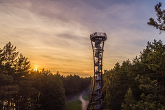 Aerial view of observation tower in Labanoras regional park, Lithuania (spot-on.lt) Tags: goldenhour landscape woods water regionalpark moletai lake orange lithuania drone attraction travel labanoras sky europe tall autumn landmark sundown cityscape evening blue observation observationtower watchtower summer nature architecture mindunai eveningsky tower spiral forest above aerial building city sown tourism vegetation