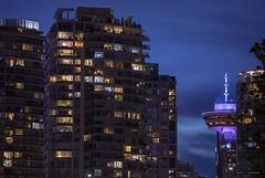 Different Tones (Clayton Perry Photoworks) Tags: vancouver bc canada summer explorebc explorecanada downtown city skyline buildings night lights falsecreek